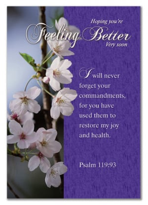 ... Christian Cards For Get Well - Hoping You're Feeling Better Very Soon
