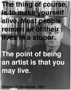 Sherwood Anderson on Art and Life: A Letter of Advice to His Teenage ...