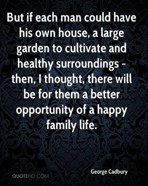 George Cadbury Gardening Quotes