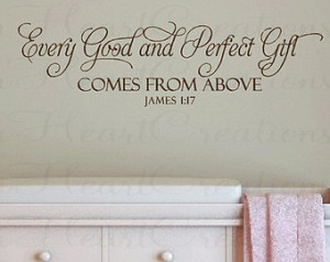 ... Baby Nursery Wall Quote - Christian Scripture Bible Verse for Baby
