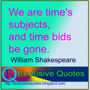 Quotes of William Shakespeare about bids.