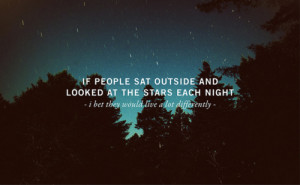Looking At The Stars Each Night