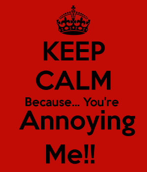 KEEP CALM Because... You're Annoying Me!!