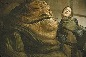 Jabba the Hutt's Oggling of Princess Leia