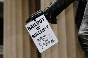 Protest against the Wall Street bailout, 2009. Two years after the ...