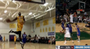 Manny Harris off the glass Ra Shad James dunks amp Terrence Williams