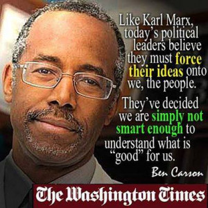 The one and only reason Ben Carson is receiving such notoriety is that ...