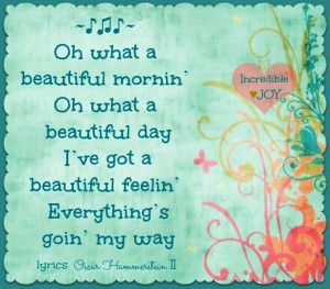 Beautiful day lyrics quote via www.Facebook.com/IncredibleJoy