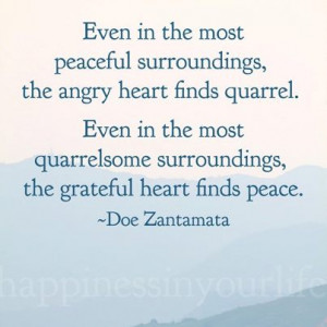 Even The Most Peaceful...