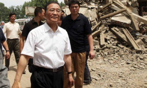 Wen Jiabao in a Sichuan township after the 2008 earthquake. Images of ...