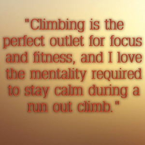 ... the past 11 years she has also had a love of rock climbing, which