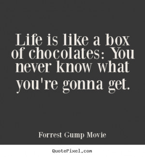 Life is like a box of chocolates: You never know what you're gonna get ...