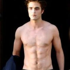 Edward Cullen with his shirt off More