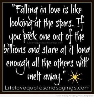 Falling in love quote