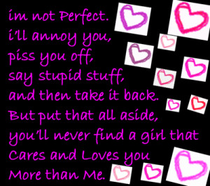 Know Im Not Perfect Quotes