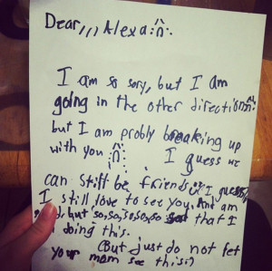 The 8 Funniest Kid Break Up Letters. They Really Have A Way With Words ...