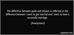 ... to get married and I want to have a successful marriage. - Anonymous