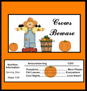 Free Printable Candy Wrapper for Halloween or Fall Celebrations. Cute ...