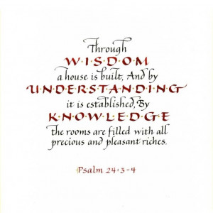 Scripture For House Warming