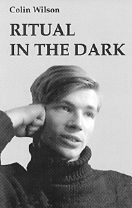 young Colin Wilson pictured on his 1960 novel Ritual in the Dark.