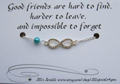 Friend Infinity Rhinestone Charm Bracelet a Pearl and Friendship Quote ...
