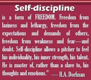 quotes self discipline is a form of freedom freedom from laziness ...