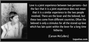 joint experience between two persons—but the fact that it is a joint ...