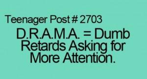 no drama for me