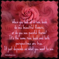 Do you see the roses or the thorns? More