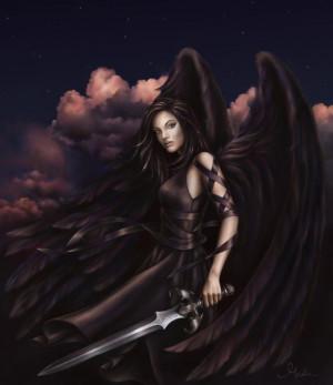 Angels Black Angel