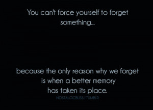 You Can't Force Yourself To Forget Something