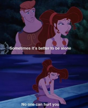alone, hercules, hurt, megara, sad