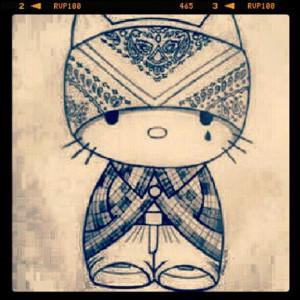Cholo. Hello Kitty. Phone wallpaper, background, lock screen.
