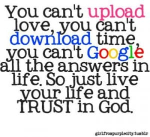 just live life and trust God