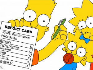 The Simpsons bart and homer simpson
