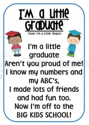 Preschool Graduation Quotes Poem / preschool items -