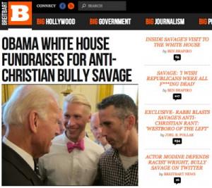 Vice President Joe Biden talks with vicious gay activist Dan Savage ...