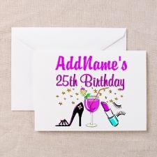 Happy 25Th Birthday Greeting Cards