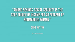 Among seniors, Social Security is the sole source of income for 26 ...