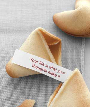 fortune cookie wisdom wednesday (on thursday)
