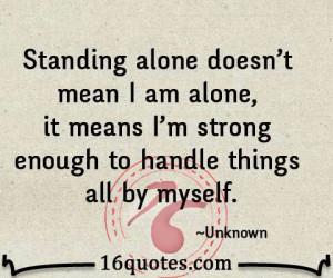 am strong enough...