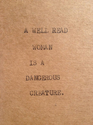 WELL READ WOMAN Typewriter quote on 2.5 x 5 by WritersWire, $4.00 ...