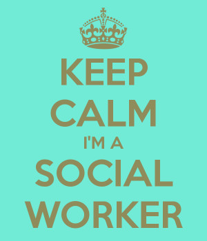 KEEP CALM I'M A SOCIAL WORKER