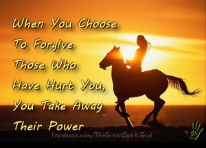 Sunset Horse: When You Choose to Forgive