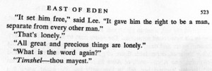 timshel [east of eden] once of my all time favorites.