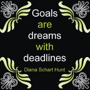 Goals Quotation Magnet by semas87
