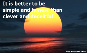 Deceitful People Quotes Clever quotes
