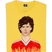 Bryan Robson United Kit Graphic Portrait T-Shirt. One of United fans ...