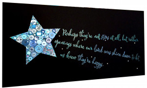 Shooting Star with Hand-Lettered Quote