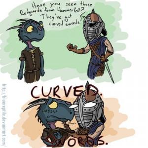 The Elder Scrolls -CURVED. SWORDS.